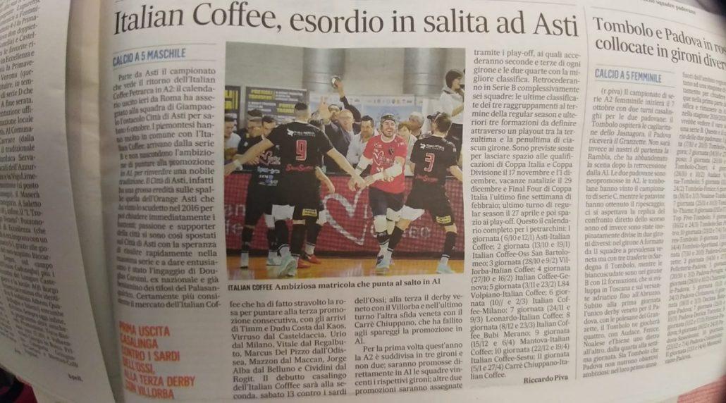 Calendario Calcio Padova.Ecco Il Calendario Dell Italian Coffee Petrarca Articolo